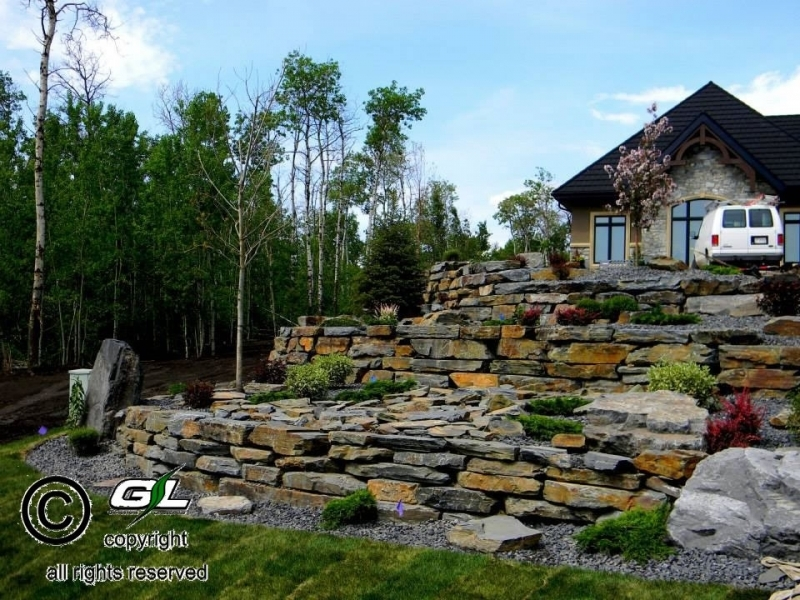 3 Tiered Rock Wall