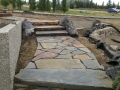 Creston Valley Slabs, with Flagstone risers